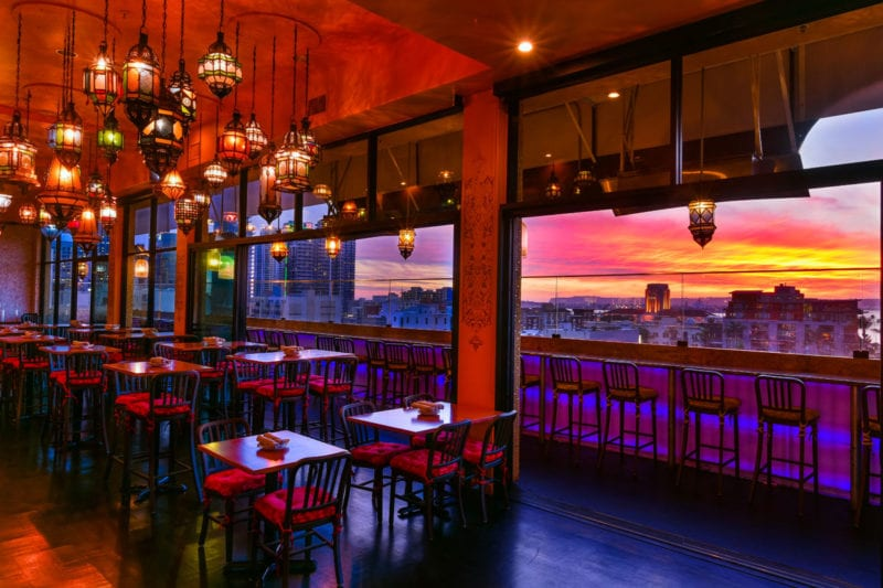 glass door rooftop bar san diego